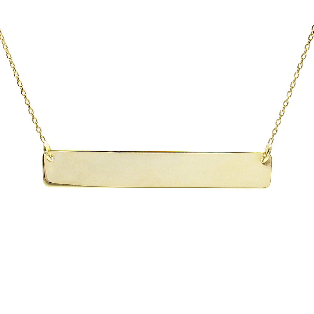 03d1f3e00 ... Gold over sterling silver engravable bar necklace | Wholesale 925  sterling silver jewelry | Alternate photo ...