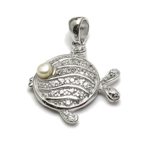 Sand sea charms wholesale sterling silver charms 925express beautiful flounder fish pendant with fresh water pearl wholesale 925 sterling silver pendant jewelry aloadofball Image collections
