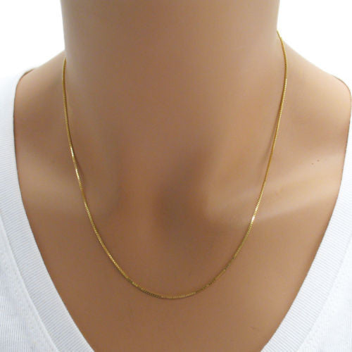 8ef3f5a4cec99 Sterling Silver Box Chain Necklace 1.5mm (Gauge 028). Available in 5 ...