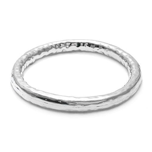 0335cbd1a6d ... Gorgeous Hammered Thick Bangle Bracelet | Wholesale 925 Sterling Silver  Jewelry | Alternate