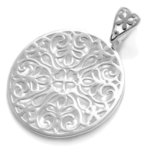 925 sterling silver filigreed square pendant wholesale 925express beautiful large heart filigree filled round pendant wholesale 925 sterling silver jewelry item photo mozeypictures Image collections