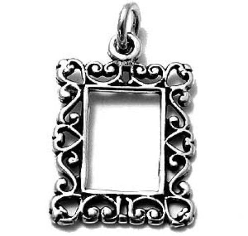 Wonderful Sterling Silver Picture Frame Charm. Wholesale - 925Express