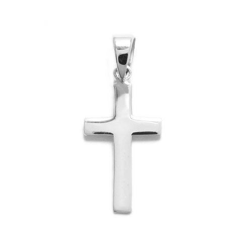 925 Sterling Silver Polished Religious Cross Charm Pendant