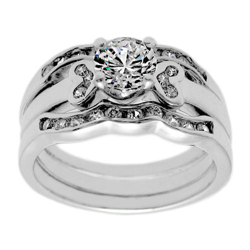 cac6984239a 3-Piece Wedding Band Set.Wholesale Sterling Silver Ring - 925Express