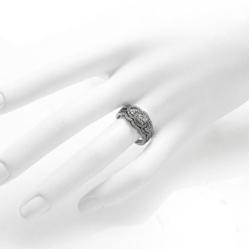 c004dec2a5a 1.68 Carat CZ Engagement Ring 3-Piece Wedding Band Set in Sterling Silver.