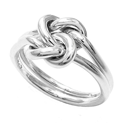 Intricate Women s Tangled Double Love-Knot Ring in Sterling Silver.  Wholesale Sterling Silver Rings ... 2f868b7e2