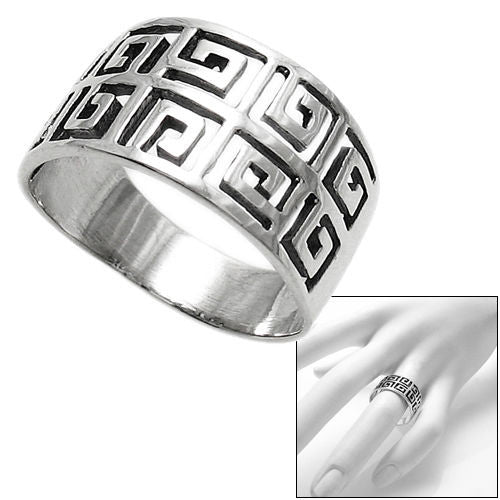 Double Greek Key Ring Wholesale Sterling Silver Ring 925express