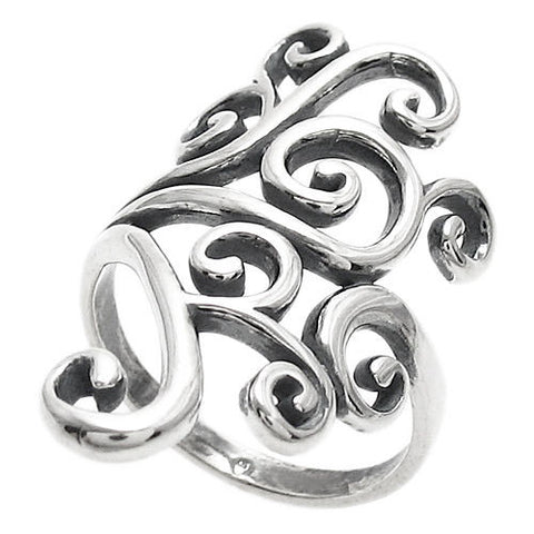 41834366e Exquisitely intricate ring in a beautifully complicated tribal art pattern.  Wholesale Sterling Silver Rings.