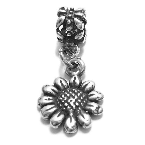 e30abfd11 Sunflower Charm with Euro Bead. Sterling Silver - 925Express