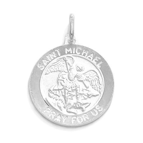 Religious christian wholesale 925 sterling silver charms 925express genuine saint michael pray for us medal pendant 18mm wholesale 925 sterling aloadofball Choice Image