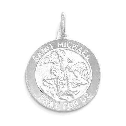 Religious christian wholesale 925 sterling silver charms 925express wholesale 925 sterling silver charms genuine saint michael pray for us medal pendant 2 sizes wholesale 925 aloadofball Image collections
