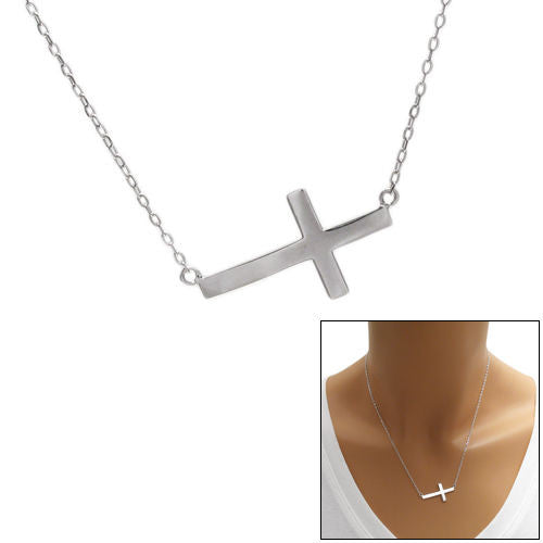 Glorious sterling silver sideways cross pendant necklace wholesale glorious sideways cross pendant necklace wholesale 925 sterling silver pendant jewelry main mozeypictures Images