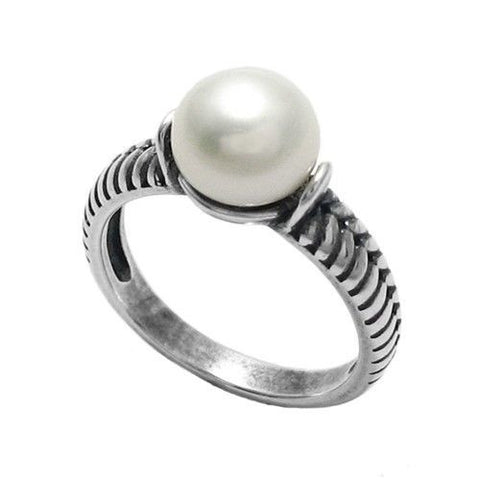 Wholesale ladies sterling silver rings with stones 925express stunning snake design band freshwater pearl ring wholesale 925 sterling silver jewelry main aloadofball Image collections