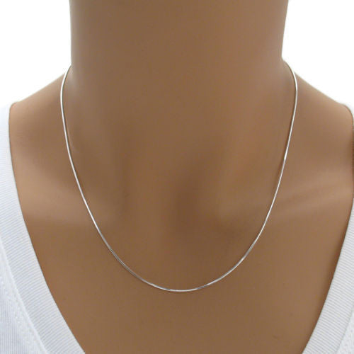 09e119b4099bd5 ... Diamond cut sterling silver snake chain 1mm width | Wholesale 925  Sterling Silver Jewelry - Chains