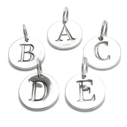 Classic Sterling Silver Initial On A Disk Charm Wholesale 925express