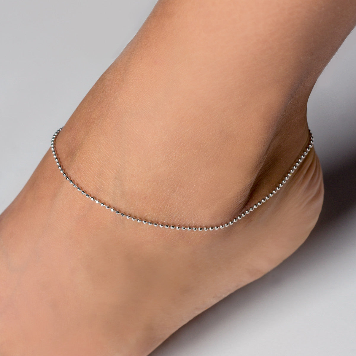 silver anklets bracelet chain anklet real women foot heart jewelry fine for ankle bracelets product crystal