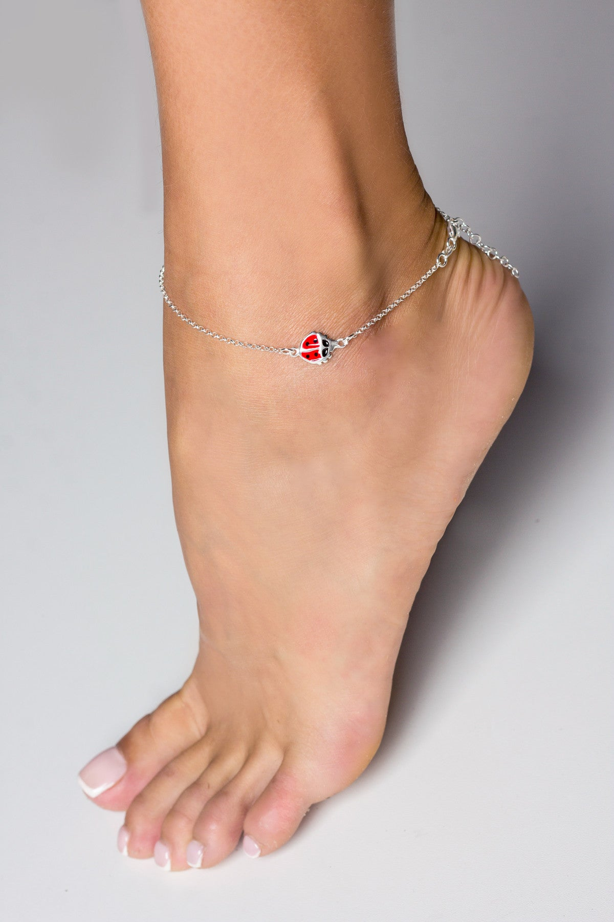 side pin image check visiting anklet by inch bracelet heart link friendship mirror and the gold chain bracelets yellow with double out relationship charms ankle