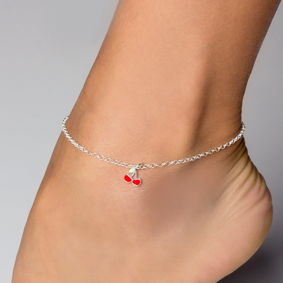inches silver anklet heart sterling bling bell charms jewelry jingle gb inch az