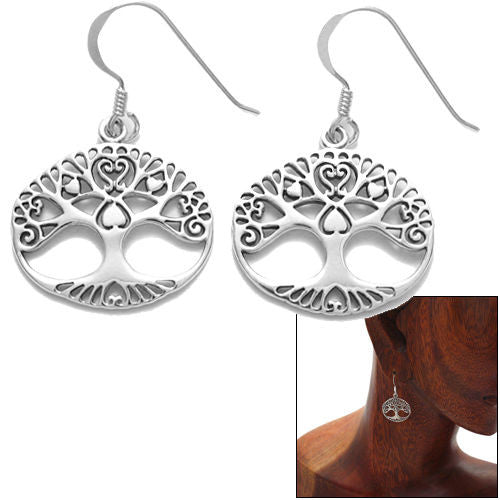2c725477e Tree of Life hanging earrings with heart branches | Wholesale 925 Sterling  Silver Jewelry | Combo ...