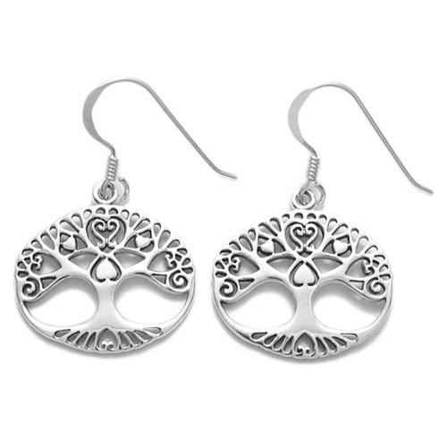 8e6f53761 ... Tree of Life hanging earrings with heart branches | Wholesale 925 Sterling  Silver Jewelry | Item ...