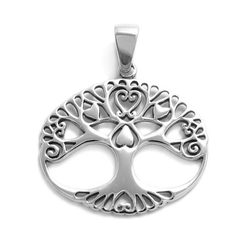 Sterling silver queen of hearts charm wholesale 925express charming tree of life with hearts pendant wholesale 925 sterling silver pendant jewelry mozeypictures Image collections