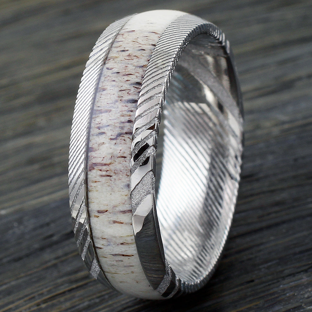 Wholesale Tungsten Ceramic Damascus Steel Rings And Wedding