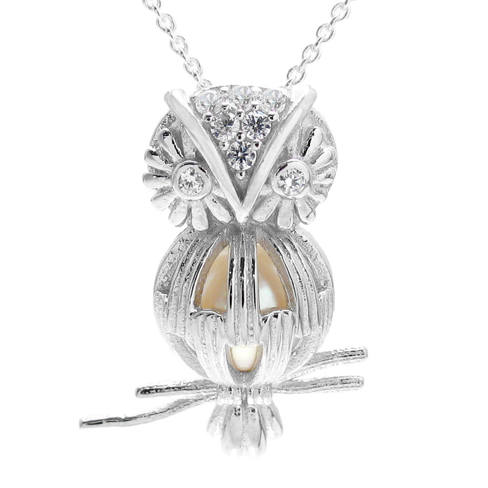 925 Sterling Silver Owl Charm 11 mm.