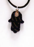 Murano Glass Hamsa in Purple - Venice Murano Designs