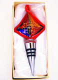 Murano Glass Wine Stopper in Red - Venice Murano Designs