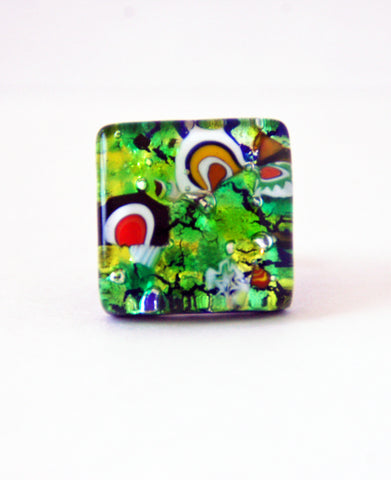 Murano Glass Green Ring - Venice Murano Designs