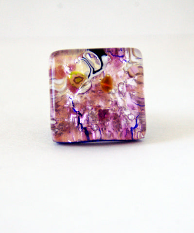 Murano Glass Purple Ring - Venice Murano Designs