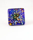 Murano Glass Blue-Green Ring - Venice Murano Designs