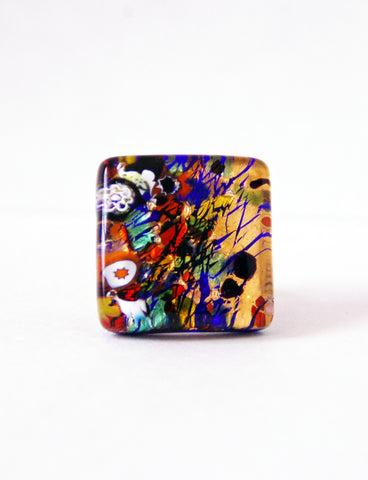 Murano Glass Multicolor Ring - Venice Murano Designs