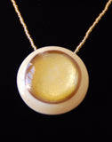 Gold Dome Pendant with Gold Necklace - Venice Murano Designs