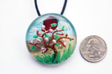 3-D Tree, Sun, Sky, and Sand Pendant - Venice Murano Designs