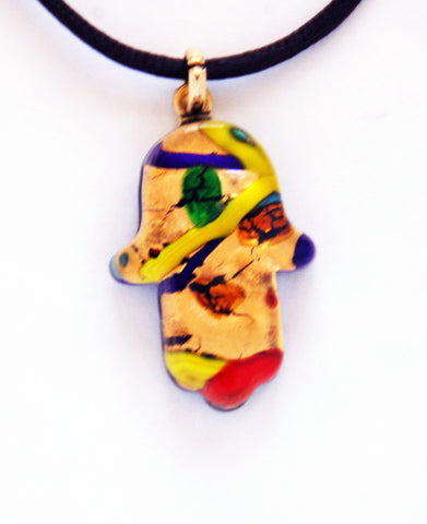 Murano Glass Hamsa - Multicolor - Venice Murano Designs