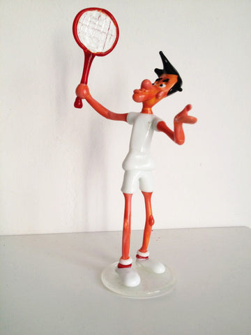 Murano Glass Tennis Player - Venice Murano Designs