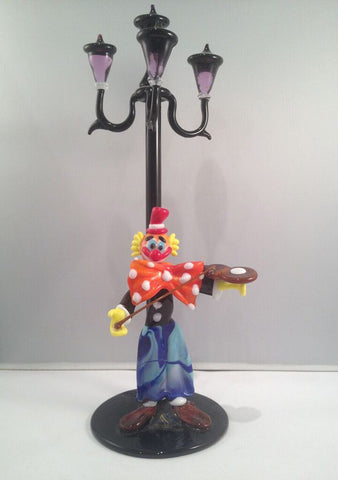 Pagliaccio Clown by Lamp 10 Inch (25 cm.) - Venice Murano Designs