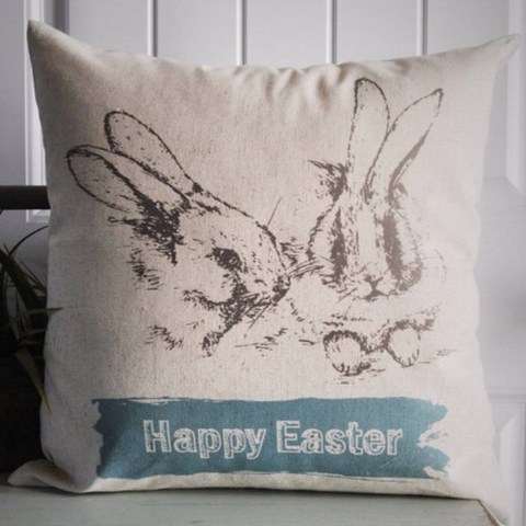 Happy Easter - Easter Bunny Pillow - Our Traditions Boutique - 1