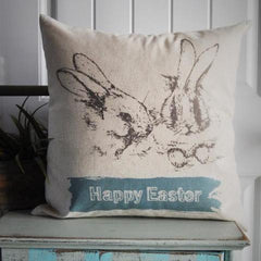 Happy Easter - Easter Bunny Pillow - Our Traditions Boutique - 2