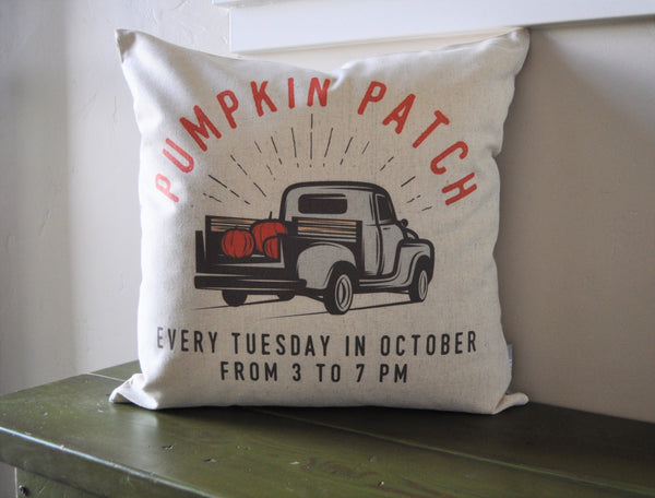 SALE, Fall Pillow Cover, Pumpkin Patch, Fall Decor, Front porch pillow - Our Traditions Boutique - 1