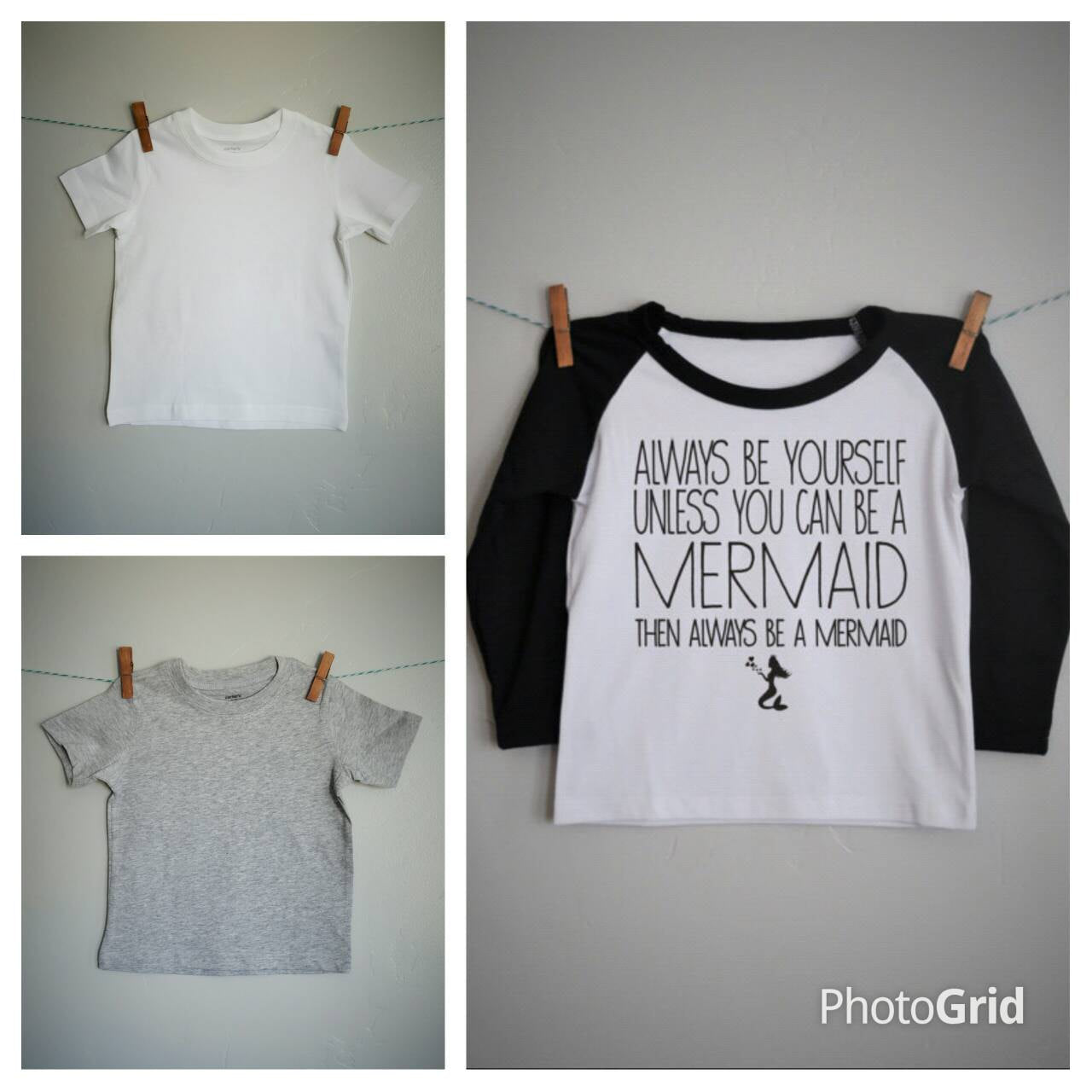 Always be a mermaid, girls raglan shirt, girls baseball tee, baby mermaid shirt, 6 months- 6 years