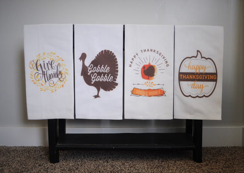 Kitchen towel, dish towel,  tea towel, Fall kitchen towels, Fall Decor, Thanksgiving towel, Thanksgiving  Decor, FOUR STYLES