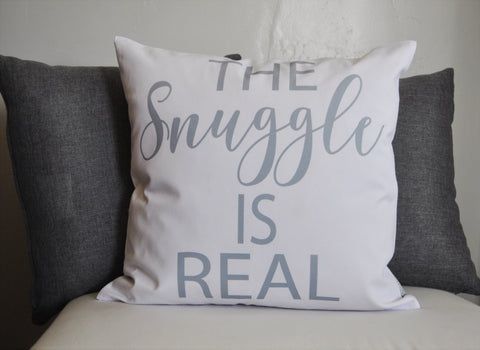 The Snuggle is Real, Pillow Cover, 18x18