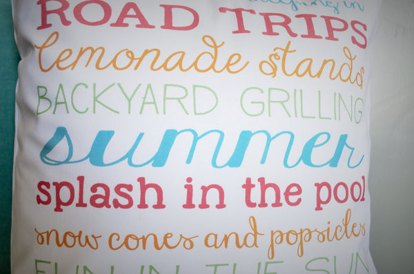 SUMMER CLEARANCE SALE, Summer Subway, Summer Subway Pillow, Summer Pillow, Summer decor - Our Traditions Boutique - 3
