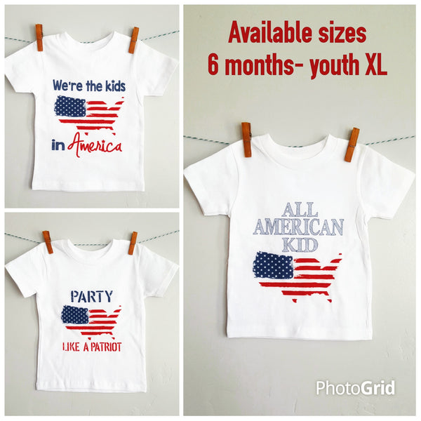 Fourth of july shirt, 4th of july shirt, patriotic shirt, baby, toddler, youth, flag shirt - Our Traditions Boutique