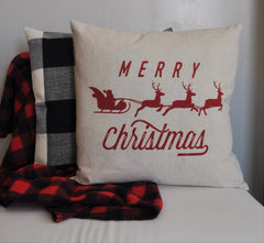 Christmas pillow cover, Christmas decor, Oh Holy NIght, Merry Christmas pillow, Holly Jolly, Vintage christmas, 18x18