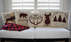 SALE, Christmas pillow, Christmas decor, Buffalo Plaid, Merry Christmas pillow, Buffalo Plaid Christmas, Lumberjack, COVER ONLY