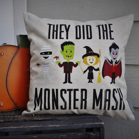 Halloween pillow, Monster Mash Pillow Cover, Happy Halloween, Halloween Decor, Fall pillow,halloween, halloween pillow