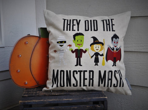 Halloween pillow, Monster Mash Pillow Cover, Happy Halloween, Halloween Decor, Fall pillow,halloween, halloween pillow - Our Traditions Boutique - 1